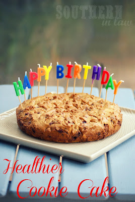Healthier Chocolate Chip Cookie Cake Recipe - Birthday Cake