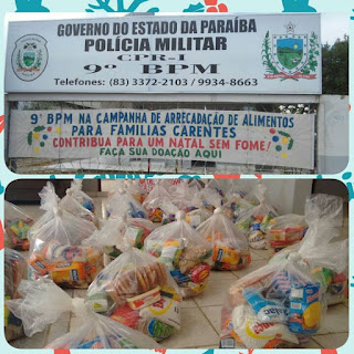 9º Batalhão realiza distribuição de alimentos arrecadados durante campanha
