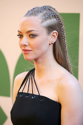 Amanda Seyfried in a black mini dress at the 'Ted 2' NYC premiere