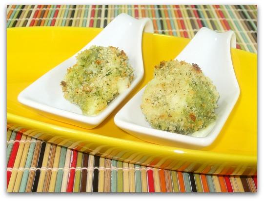 baked panko pesto mozzarella balls