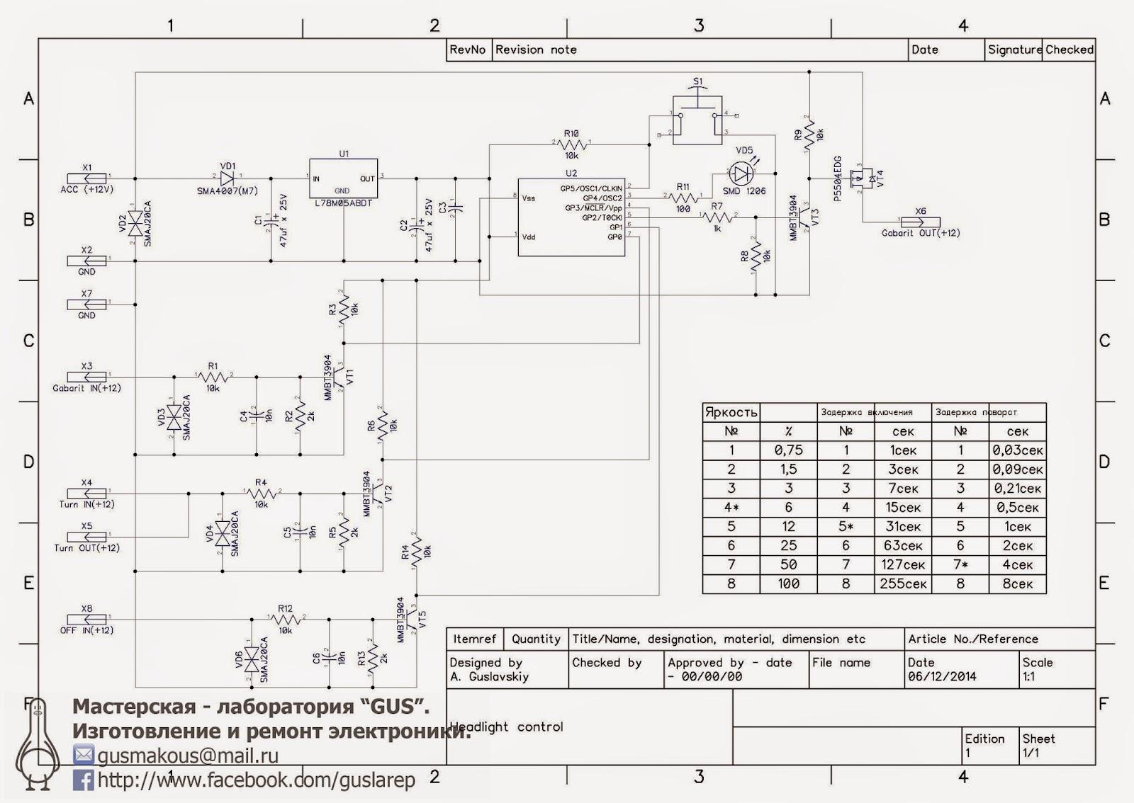 схема дхо на pic 12f629