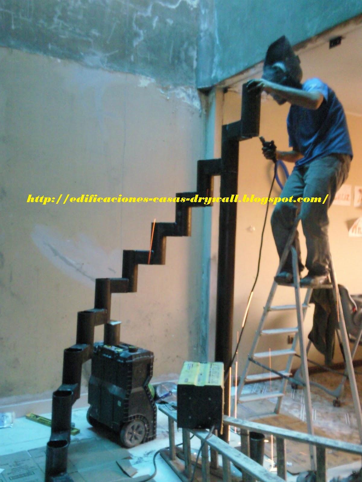 Mmd construcciones escalera curva con pasos de madera y for Escalera de madera 5 pasos