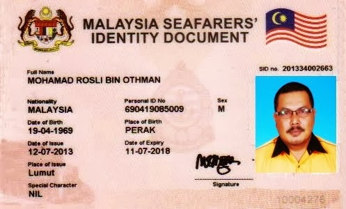 Malaysia Seafarers' Identity :