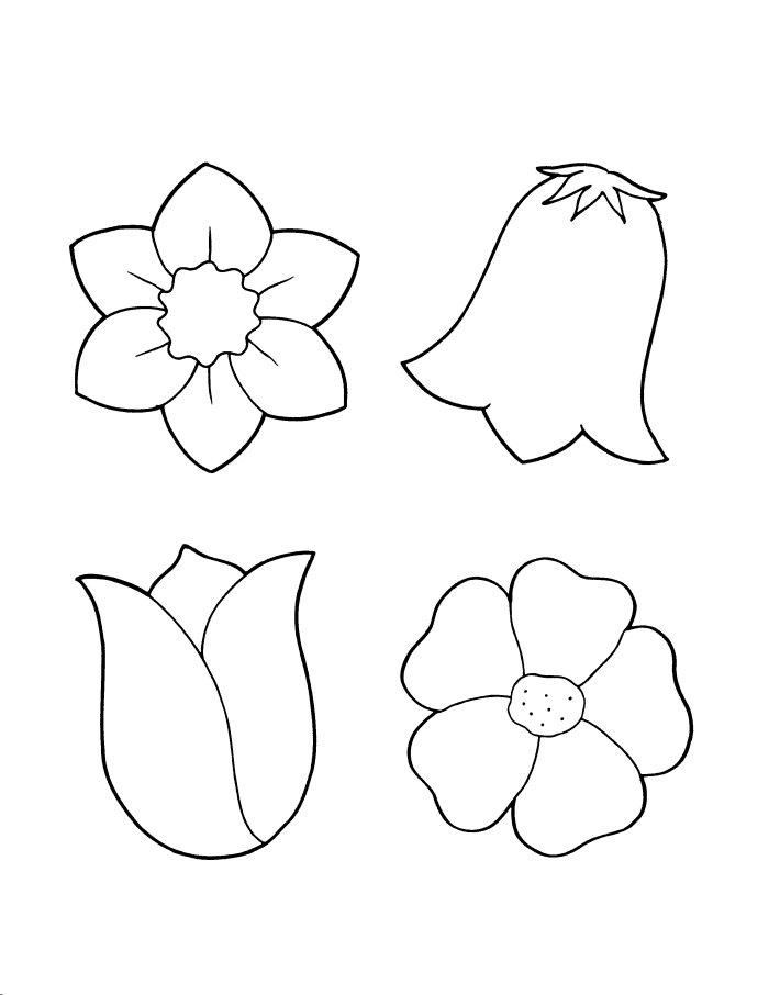 Трафарет для аппликации цветок