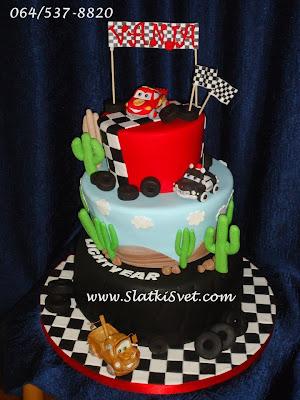 Torta Cars - autic - torte za decake - Beograd - Novi Sad