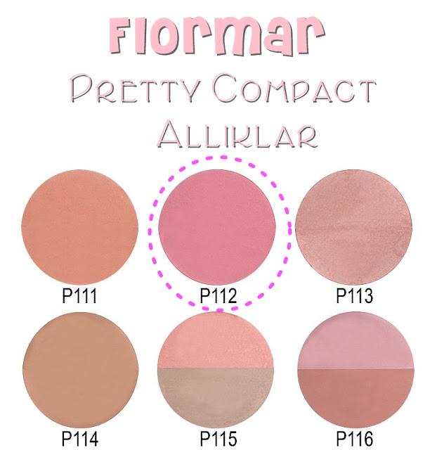 flormar pretty compact allık renkleri