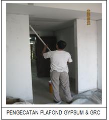 Pekerjaan Cat Plafond Gypsum dan GRC