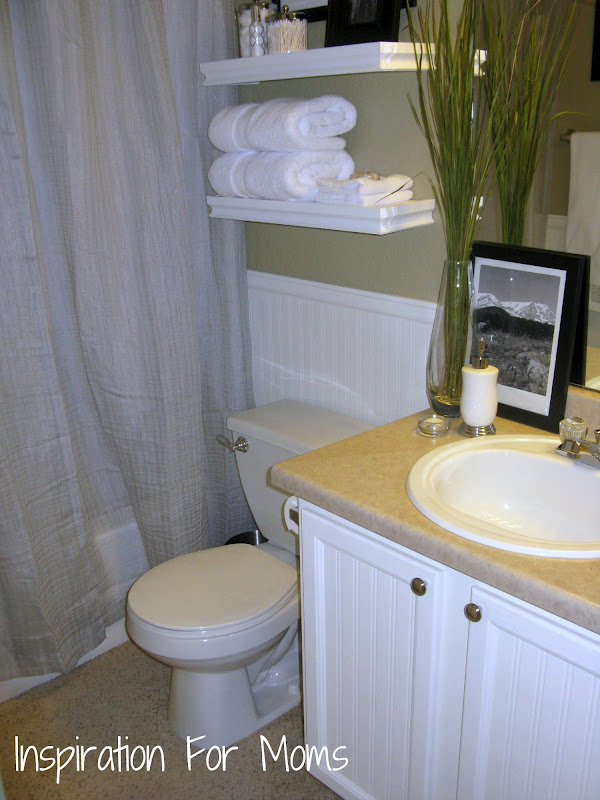 finished it friday guest bathroom remodel inspiration for moms