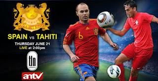 Prediksi Skor Spanyol VS Tahiti Piala Confederations 21 Juni 2013