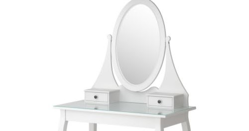 Queen lucii my diy budget vanity dressing table with ikea - Hemnes dressing table with mirror white ...