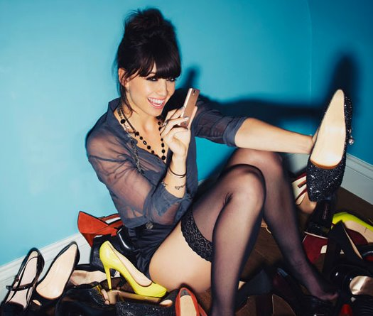 Daisy Lowe in the Caged collection