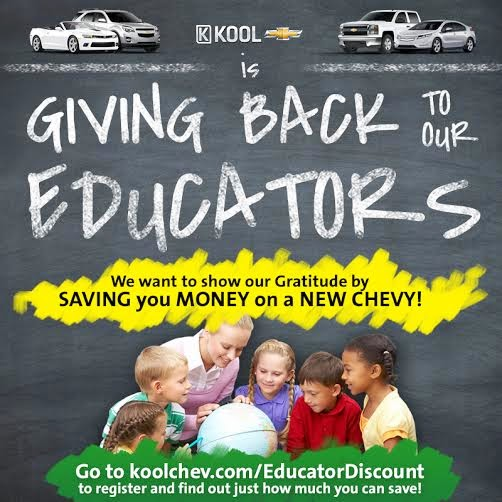 Chevrolet Educator Discount at Kool Chevrolet