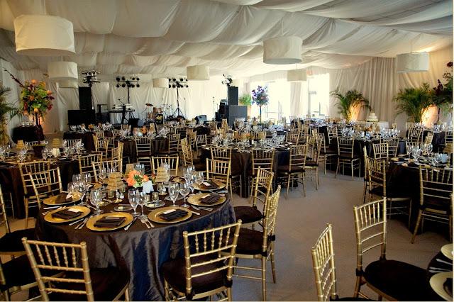 Isha Foss Events custom room draping at Norfolk Botanical Garden