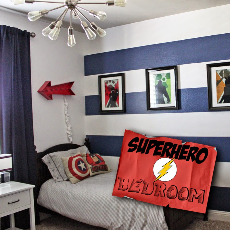 little of this a little of that boys superhero room tour