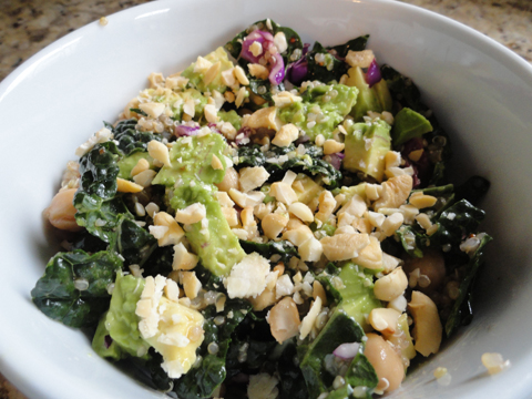 Twig and Lily: Kale, Quinoa, Garbanzo Bean Salad