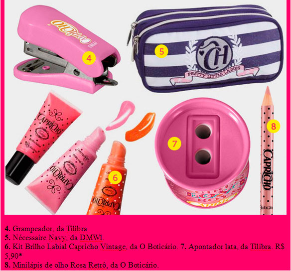 estojo maquiagem produtos capricho CAPRICHO MATERIAL ESCOLAR, preços onde comprar