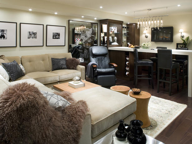 Candice Olson Basement Family Room