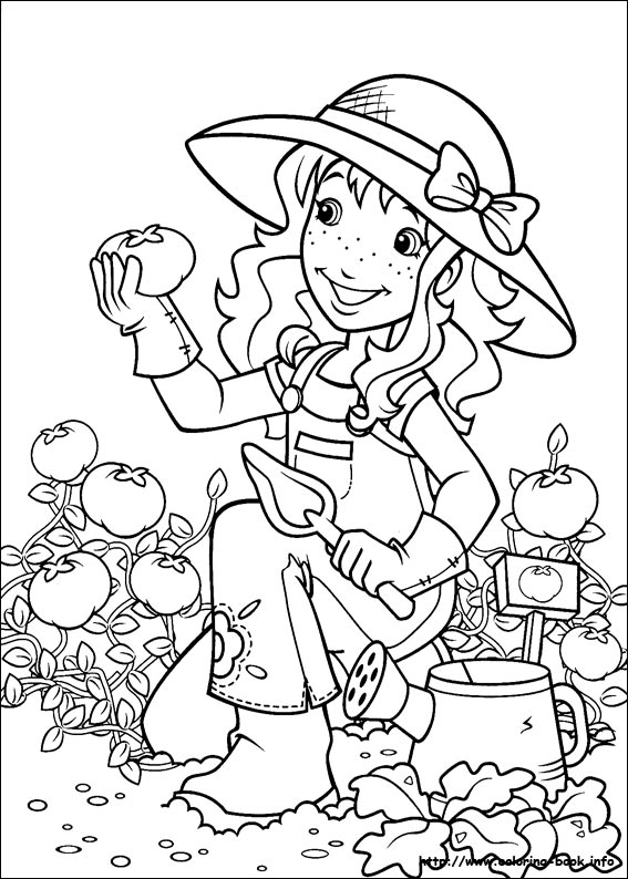 Disegni da colorare disegni da colorare holly hobbie for Holly hobbie coloring pages