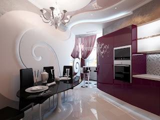 Decoraci n e ideas para mi hogar 6 cocinas modernas en for Cocinas modernas moradas