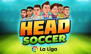 Screenshots of the Head soccer: La liga for Android tablet, phone.