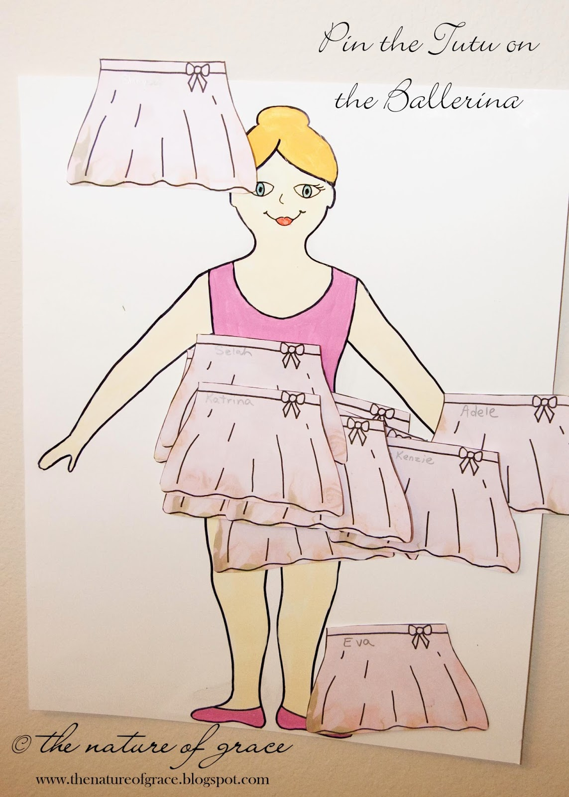 pin the tutu on the ballerina template the nature of grace october 2013