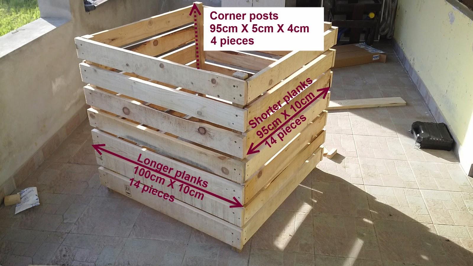 DIY Wooden Compost Bin