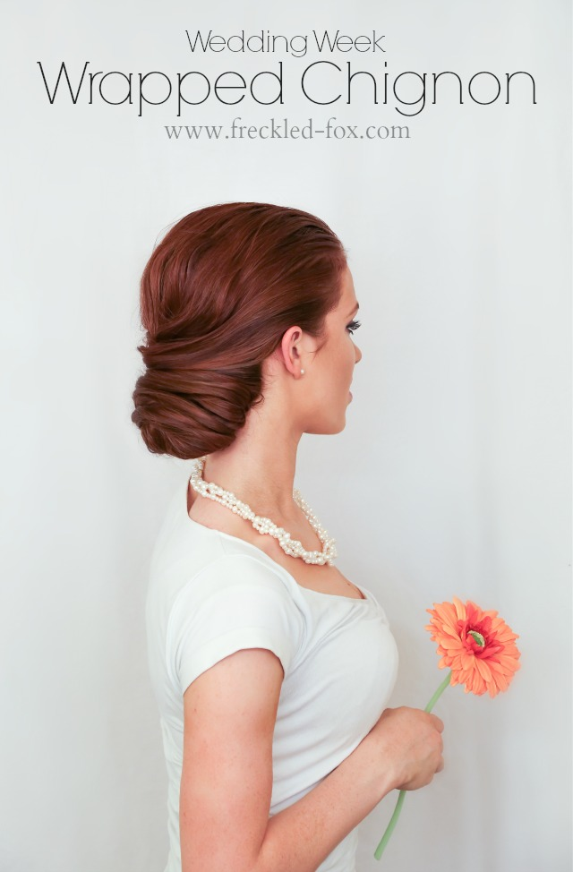 The Freckled Fox Wedding Hair Week Wrapped Chignon By Emily Meyers