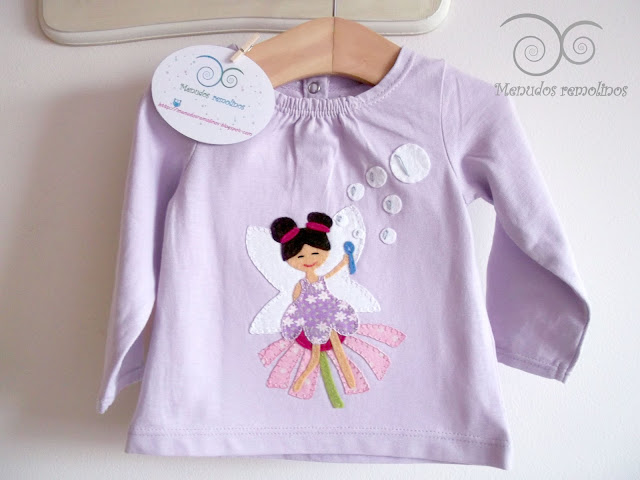 Camiseta Hada de las pompas de jabón lila2