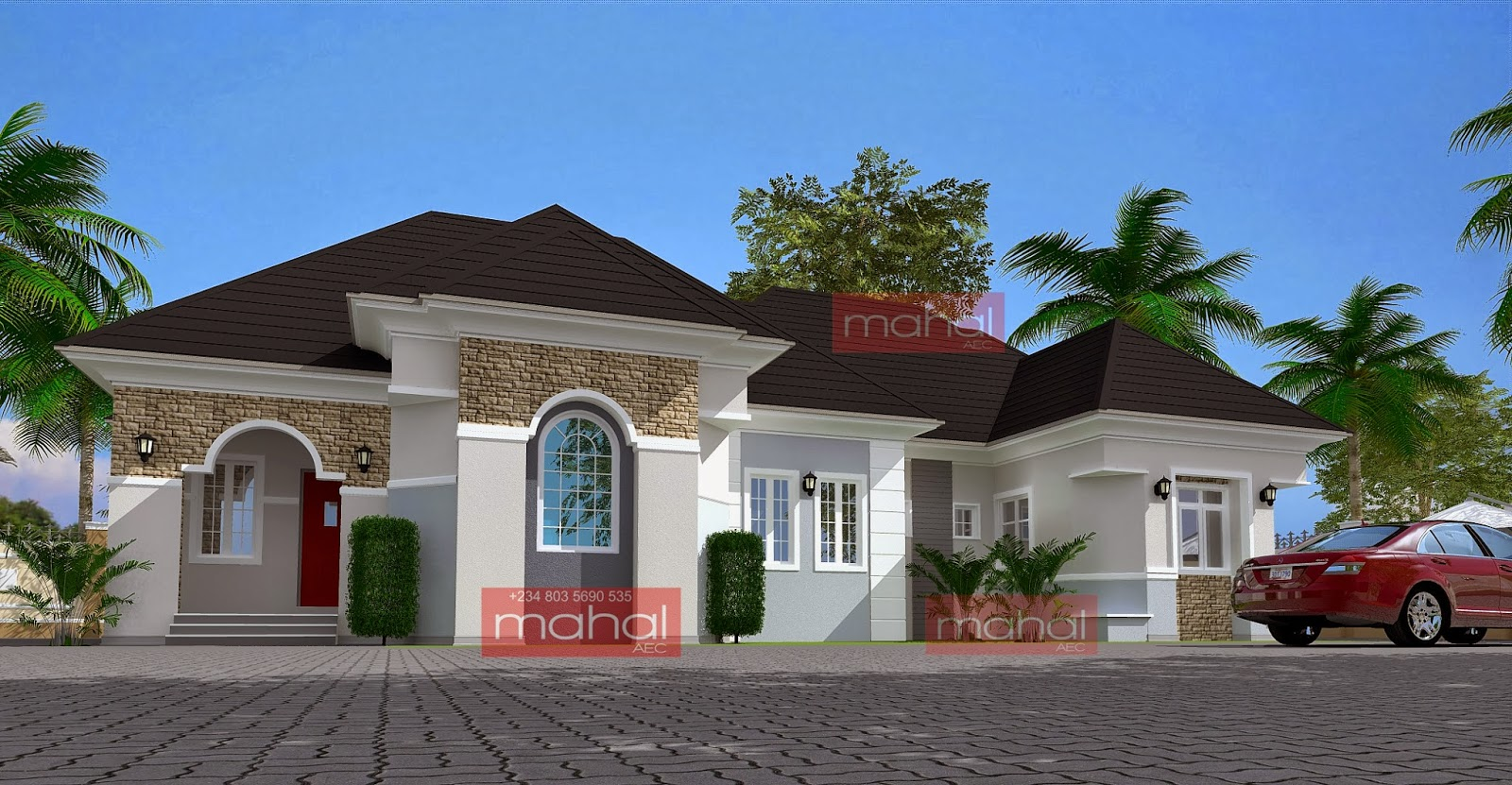 Nigeria bungalow designs joy studio design gallery for Luxury bungalow house plans