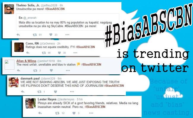Trending on Twitter: Did Iglesia ni Cristo ordered to Boycott ABSCBN? #BiasABSCBN