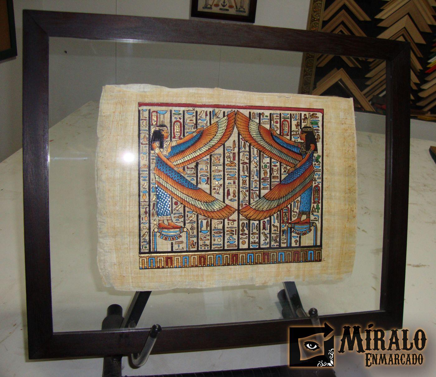 Enmarcado en doble vidrio de papiro egipcio - Enmarcado de cuadros ...