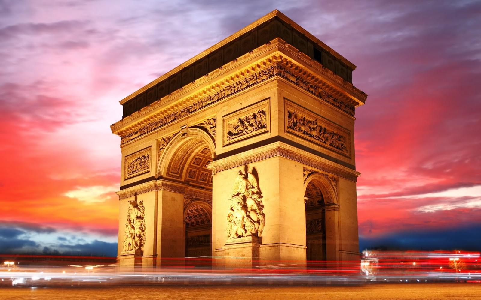 Imagenes de El Arco de Triunfo de Paris francia