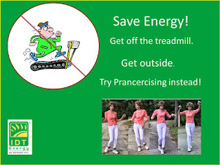 IDT Energy, prancercise, get off the treadmill