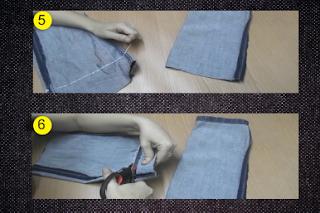 Cesta de jeans