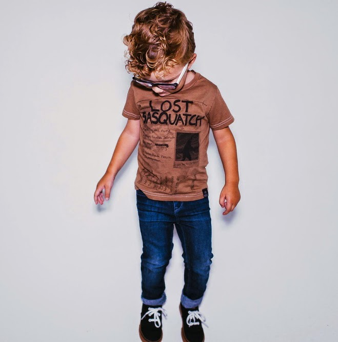 "Tiny Whales: kids tee ""LOST SASQUATCH"""