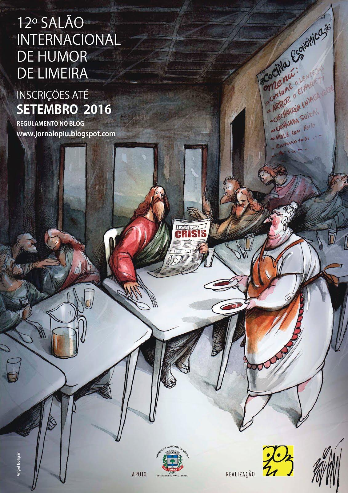 Cartaz do 12º SALÃO INTERNACIONAL DE HUMOR DE LIMEIRA