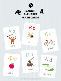 http://www.mrprintables.com/danish-alphabet-flash-cards.html