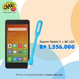 Promo Xiaomi Redmi 2 + MI LED Rp 1.556.000
