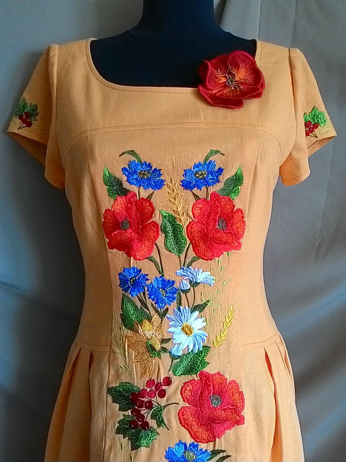 Вышивка для платья 47