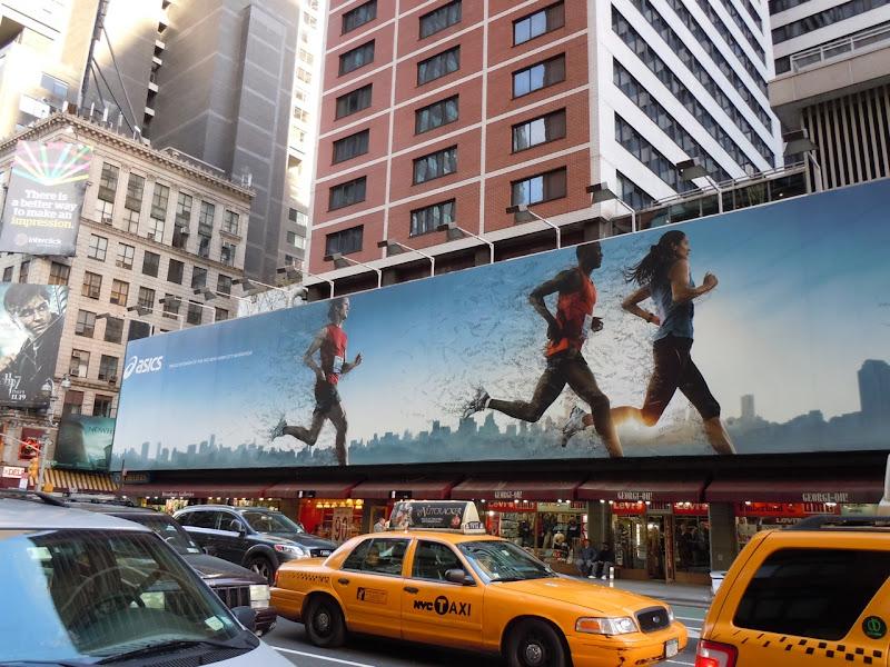 Asics New York marathon billboard
