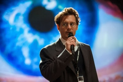 Johnny Depp in cinematographer Wally Pfister's directorial debut, TRANSCENDENCE