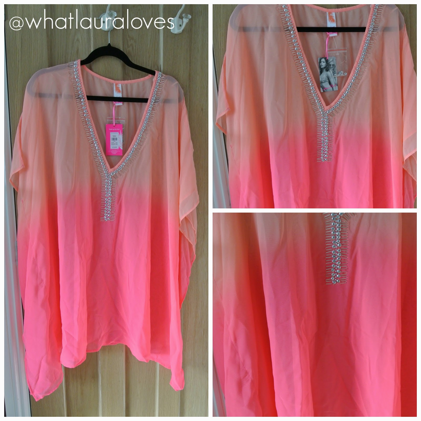 Orange and Pink Kaftan Primark