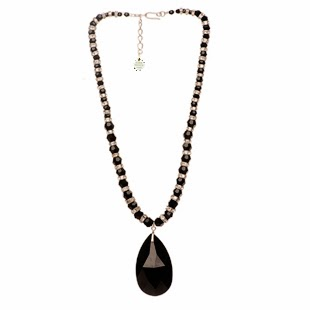 Crystal necklace, elisha francis, black necklace, luxury necklace, designer necklace, black crystal