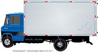 Mercedes-Caminhão Bau 608