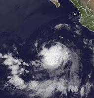 Tropischer Sturm DANIEL bei Mexiko wird wahrscheinlich kein Hurrikan, Daniel, aktuell, Satellitenbild Satellitenbilder, Hurrikansaison 2012, Pazifische Hurrikansaison, Mexiko, Juli, 2012, Vorhersage Forecast Prognose,