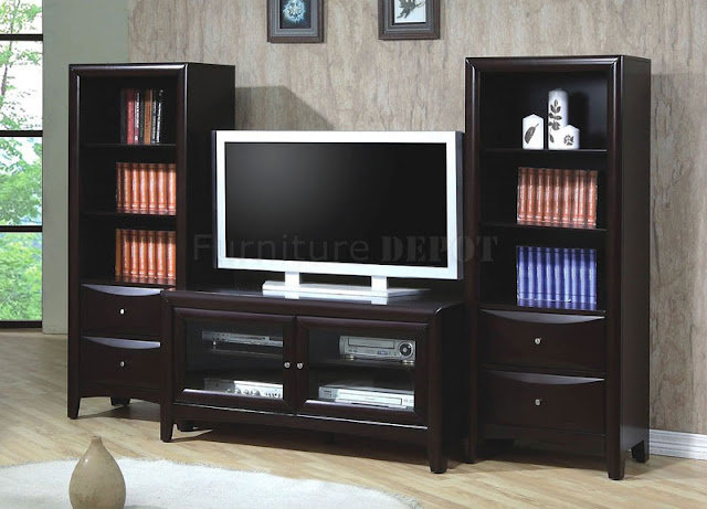 Wooden TV Stand Design Photo