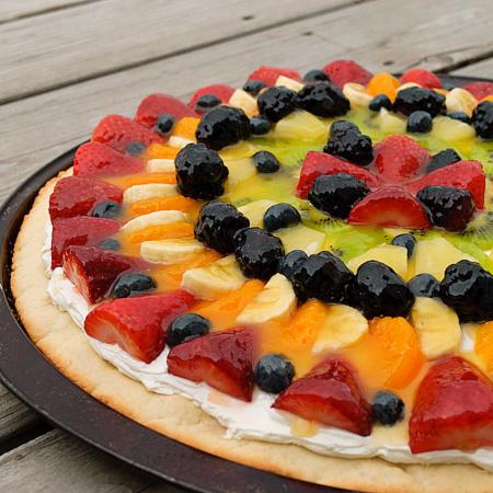 Estilo y hogar: Receta: Pizza de frutas. Fruta de temporada de Mayo ...