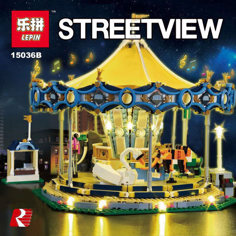 Downtheblocks Lepin 15036b Creator Carousel With Lights