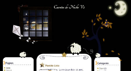 Night Tales Blogger Template
