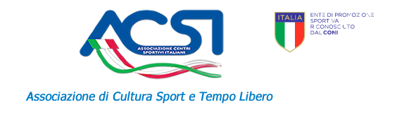"""Affiliata all'Ente di Promozione Sportiva """"ACSI"""""""
